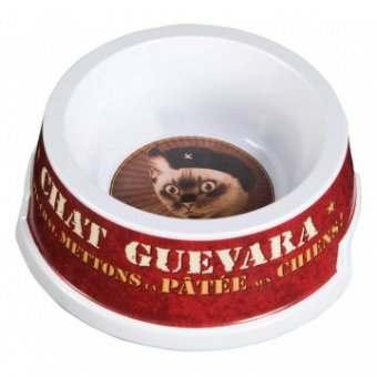 Gamelle pour chat - chat Guevara