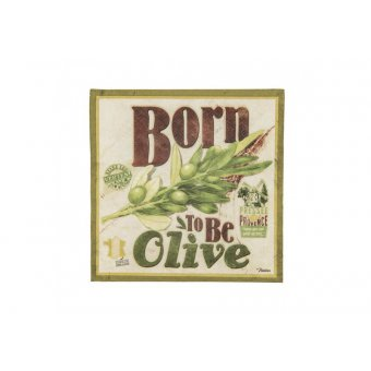Serviettes en papier 3 plis x20 - Born to be olive