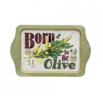 Petit plateau métal - Born to be olive