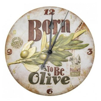 Horloge métal en relief - Born to be olive