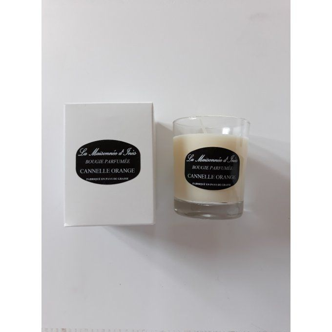 Bougie parfumée artisanale 130 gr - cannelle orange